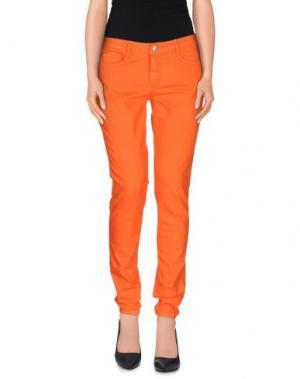 Джинсовые брюки BLEULAB. Цвет: оранжевый