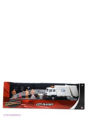 Игровой набор Строительная команда с белым грузовиком HTI. Цвет: белый