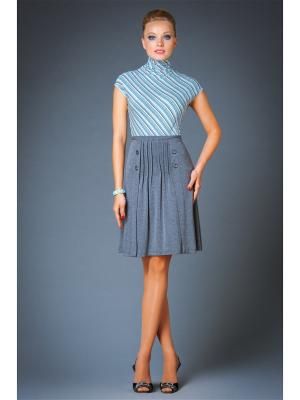Блуза Арт-Деко. Цвет: серый, синий