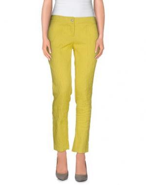 Повседневные брюки LIST. Цвет: желтый