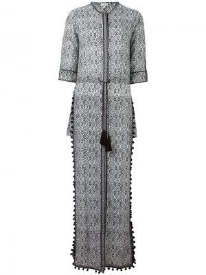 Длинное платье с разрезами по бокам Talitha. Цвет: чёрный