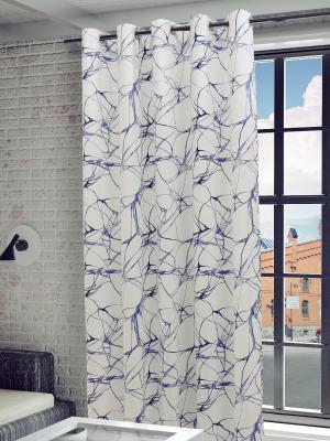 Готовая штора SANPA HOME COLLECTION. Цвет: голубой, светло-серый