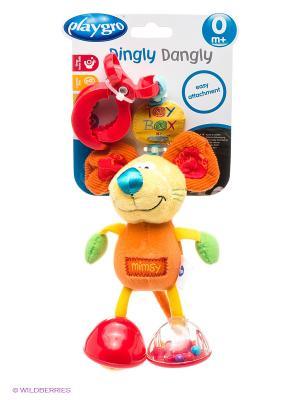 Мягкая игрушка-подвеска Мышка Playgro. Цвет: оранжевый, желтый, зеленый