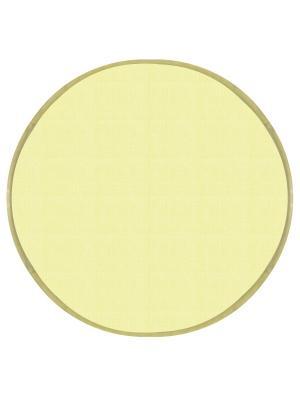 Подушка на табурет хлопок,круг 34, 2 см. DEKORTEX. Цвет: светло-желтый