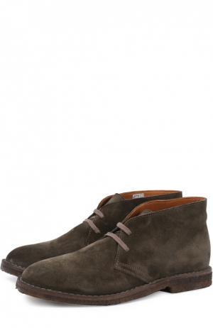 Замшевые ботинки на шнуровке Uit. Цвет: хаки