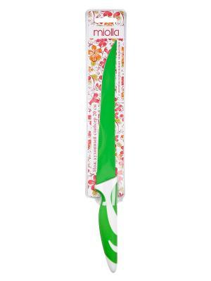 Нож кухонный  Зеленый Miolla. Цвет: зеленый