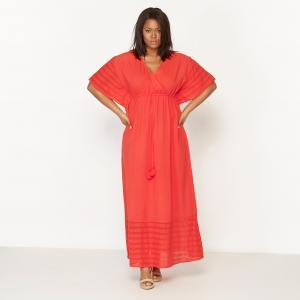 Платье-кафтан длинное CASTALUNA. Цвет: красный