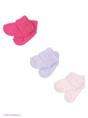 Носки, 3 пары Luvable Friends. Цвет: малиновый, розовый