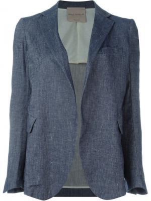 Пиджак без застежки Erika Cavallini. Цвет: синий