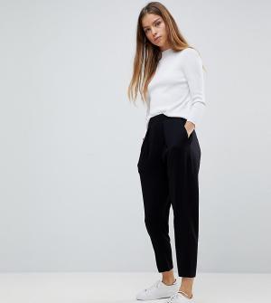 ASOS Petite Трикотажные брюки галифе Ultimate. Цвет: черный