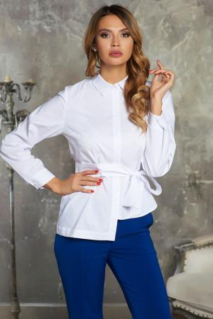 Полуприлегающая блузка с поясом Vittoria Vicci. Цвет: белый