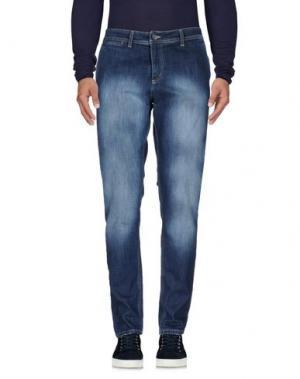 Джинсовые брюки EXIBIT. Цвет: синий