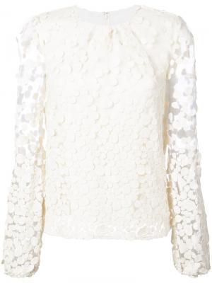 Dot pattern transparent sleeve blouse Co. Цвет: белый