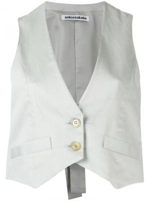 Укороченный жилет Mikio Sakabe. Цвет: серый