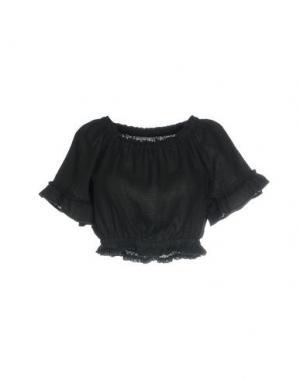 Блузка 120% LINO. Цвет: черный