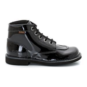 Ботинки Kick Col Perm KICKERS. Цвет: черный лак