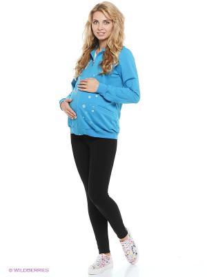 Толстовка для беременных impressmama. Цвет: бирюзовый