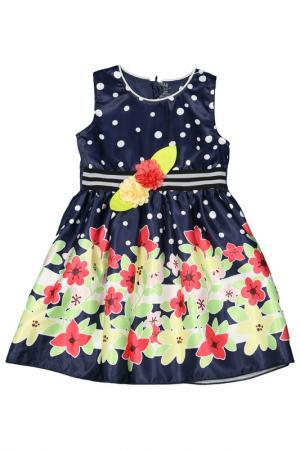 Платье GLEOITE WARDROBE. Цвет: темно-синий, белый, желтый, ро