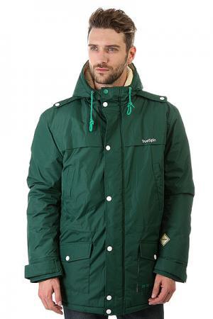 Куртка парка  Fishtail Dark Green TrueSpin. Цвет: зеленый