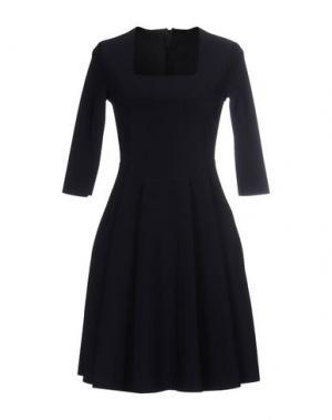 Короткое платье ES'GIVIEN. Цвет: темно-синий