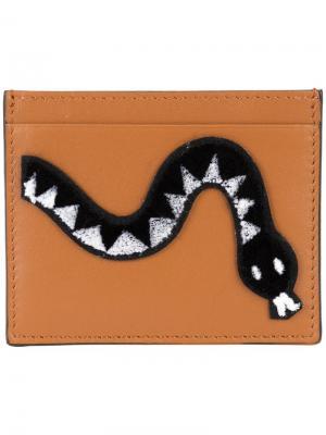 Визитница со змеей Les Petits Joueurs. Цвет: коричневый