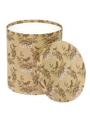 Коробка крафт,  набор из 3 шт. 20х20х15- 30х30х30 см. Гимн весне. VELD-CO. Цвет: светло-коричневый, белый