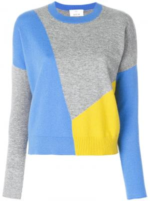 Colour block jumper Allude. Цвет: синий
