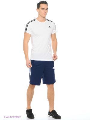 Футболка ESS 3S TEE Adidas. Цвет: белый
