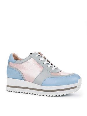 Ботинки EMILIA ESTRA. Цвет: голубой