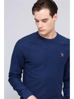 Свитшот U.S. Polo Assn.. Цвет: темно-синий