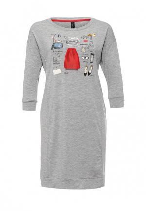 Сорочка ночная Relax Mode. Цвет: серебряный