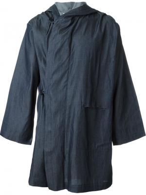 Пальто в стиле кейп Mow. Цвет: синий