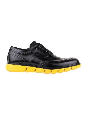 Туфли BARRACUDA. Цвет: черный, желтый