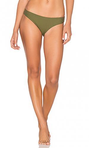 Умеренные плавки бикини ali TAVIK Swimwear. Цвет: оливковый