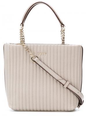Маленькая сумка-шоппер Donna Karan. Цвет: серый