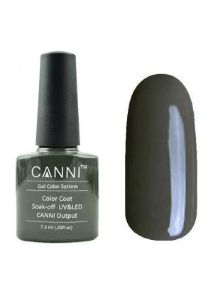 Гель лак №156 CANNI. Цвет: серо-зеленый