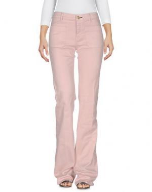 Джинсовые брюки SHINE. Цвет: светло-розовый