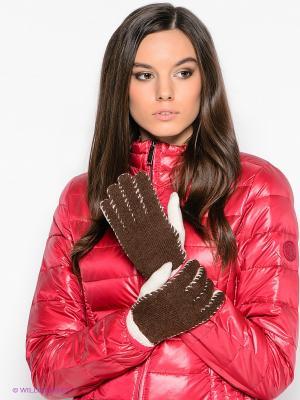 Перчатки Modo. Цвет: коричневый