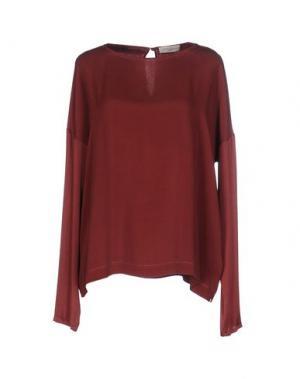 Блузка ANTONELLI. Цвет: красно-коричневый