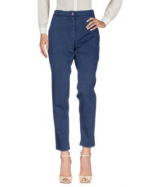 Повседневные брюки LUCKY LU Milano. Цвет: темно-синий