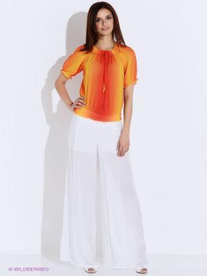Блузка Oodji. Цвет: оранжевый