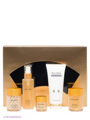 Большой подарочный набор -Bio-gold Cosmetics Set. SET (5 предметов) PULANNA. Цвет: прозрачный, золотистый