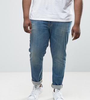 ASOS Выбеленные джинсы скинни PLUS. Цвет: синий