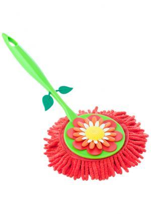 Щетка для удаления пыли с ручкой FLOWER POWER VIGAR. Цвет: зеленый (зеленый, красный)
