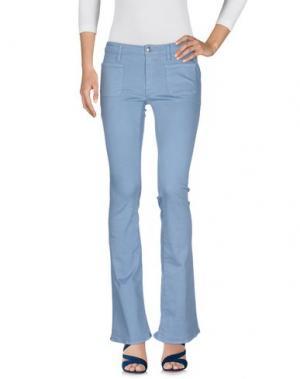 Джинсовые брюки (+) PEOPLE. Цвет: небесно-голубой