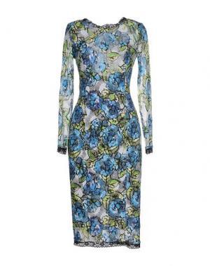 Платье до колена BABYLON. Цвет: лазурный