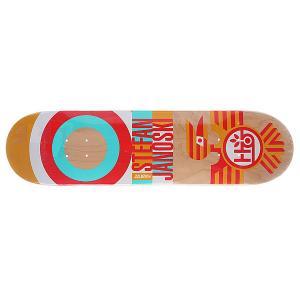 Дека для скейтборда  Su5 Janoski Raptor Orange 32.25 x 8.0 (20.3 см) Habitat. Цвет: красный,бежевый,голубой,желтый