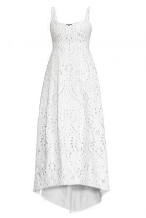 Платье из хлопка с шелком 162635 Izeta. Цвет: белый