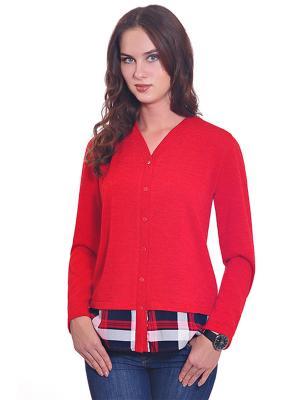 Блузка RISE. Цвет: красный