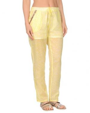 Пляжные брюки и шорты PATRIZIA PEPE BEACHWEAR. Цвет: желтый